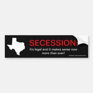 Texas Secession Bumper Sticker