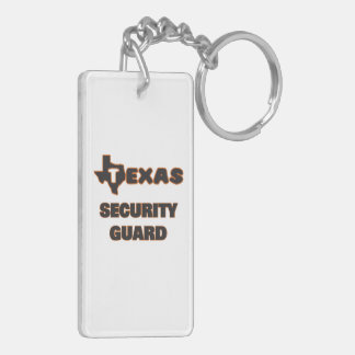 Texas Security Guard Double-Sided Rectangular Acrylic Keychain
