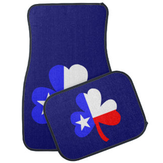 Texas Shamrock Car Mat