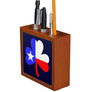 Texas Shamrock Desk Organizer