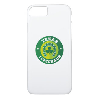 Texas Shamrock Leprechaun St. Patrick's Day Funny iPhone 8/7 Case