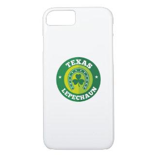 Texas Shamrock Leprechaun St. Patrick's Day Funny iPhone 8/7 Case