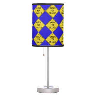 Texas Signs: Watch for Snakes Table Lamp