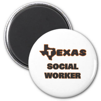 Texas Social Worker 2 Inch Round Magnet