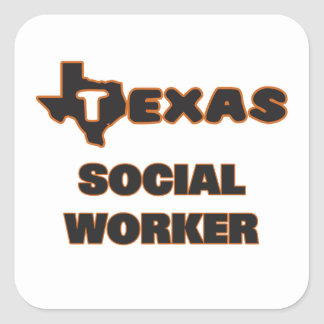Texas Social Worker Square Sticker