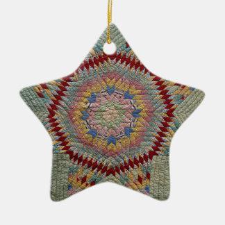 Texas Star Ceramic Ornament