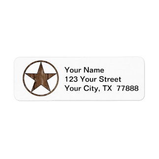 Texas star return address label