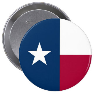 Texas State Flag 4 Inch Round Button