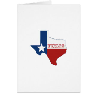 Texas State Flag and Map Shape Note Card