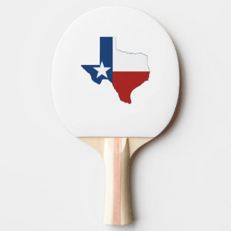 Texas State Flag and Map Shape Ping Pong Paddle