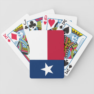 Texas State Flag Bicycle Playing Cards