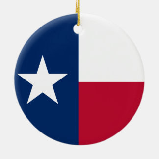 Texas State Flag Ceramic Ornament