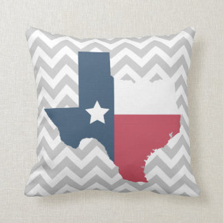 Texas State Flag Chevron Zig Zag Designer Pillow