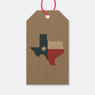 Texas State Flag Gift Tags