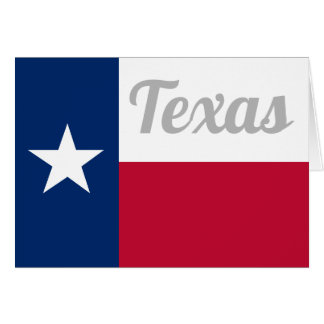 Texas state flag greeting card with custom text