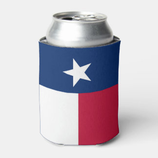 Texas state flag - high quality authentic colour can cooler