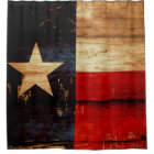 Texas State Flag in Rustic Wooden Grunge Look