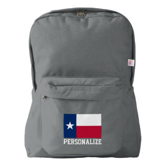 Texas state flag personalized backpack