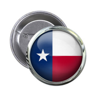 Texas State Flag Round Glass Ball 2 Inch Round Button