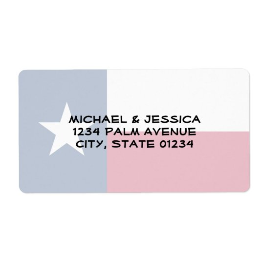 Texas State Flag Shipping Label