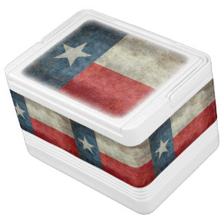Texas state flag vintage retro Igloo Can Cooler