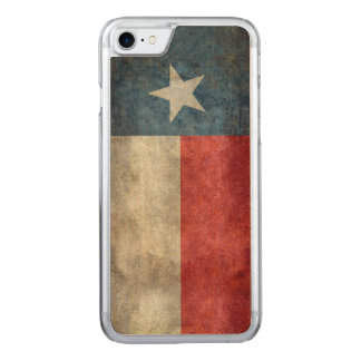 Texas state flag vintage retro iphone wood carved iPhone 7 case
