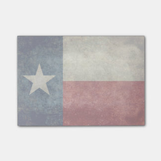 Texas state flag vintage retro post its notes