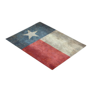 Texas state flag vintage retro style door mat