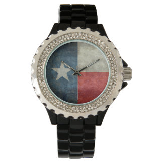 Texas state flag vintage retro style ladies watch