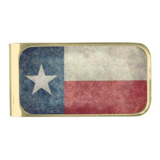 Texas state flag vintage retro style Money Clip Gold Finish Money Clip