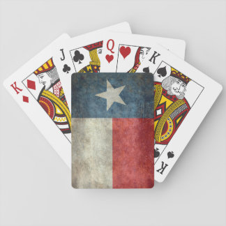 Texas state flag vintage retro style playing cards