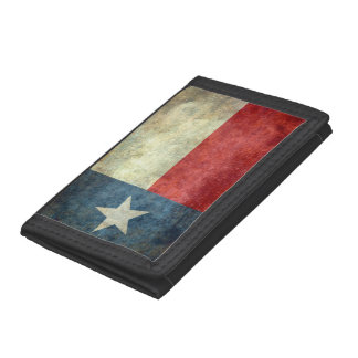 Texas state flag, Vintage retro version Tri-fold Wallet