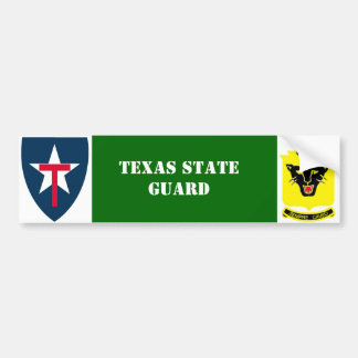 Texas State Guard 4th Reg. Bumper Sticker