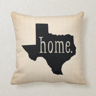 Texas State Home Black / Canvas Background Pillow