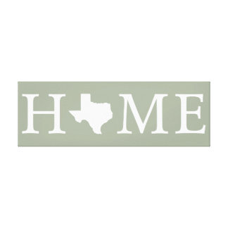 Texas State HOME Canvas Wall Art