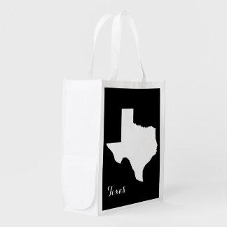 Texas State Map Reusable Grocery Bag