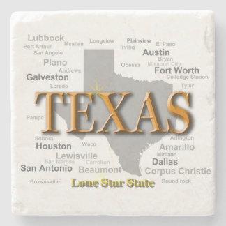 Texas State Map Stone Coaster