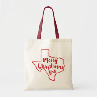 Texas State Merry Christmas Y'all Tote