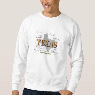 Texas State Pride Map Silhouette Sweatshirt