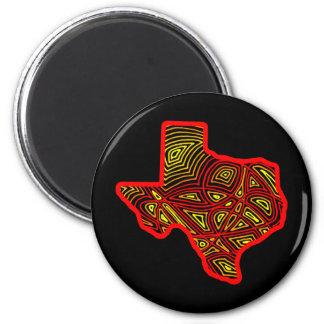 Texas State Scribbleprint Magnet