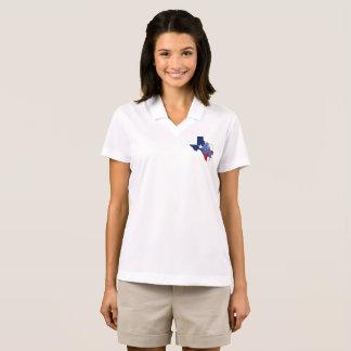 Texas State Shape Flag and Bluebonnets Dri-FITPolo Polo Shirt