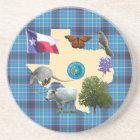 Texas State Symbols Coaster