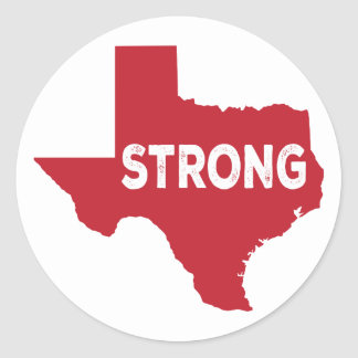 Texas Strong Red Stickers