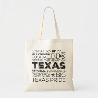 Texas Subway Art Tote - Black