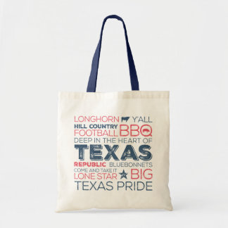 Texas Subway Art Tote - Red and Blue