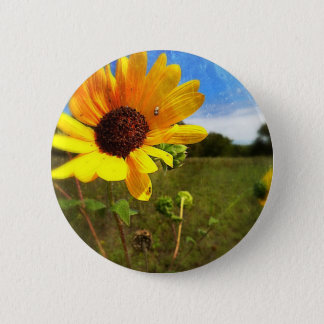 Texas Sunflowers by Jill 2 Inch Round Button