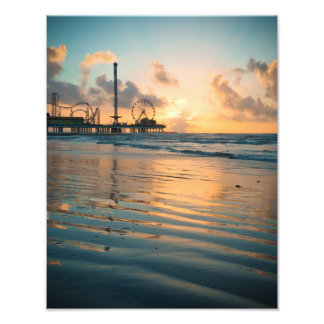 Texas Sunrise at Galveston Photo Print