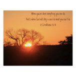 Texas Sunrise, Scripture Quote from Corinthians Poster
