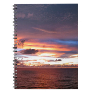 Texas sunset-wow lake kickapoo spiral notebook