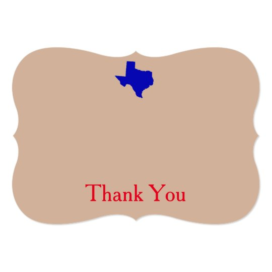 Texas Thank You Cards